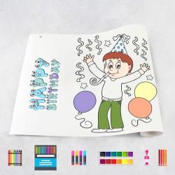 Drawing roll Birthday