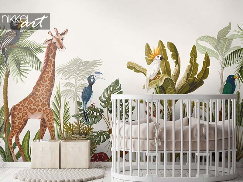 Wall mural inspiration for the kids' room