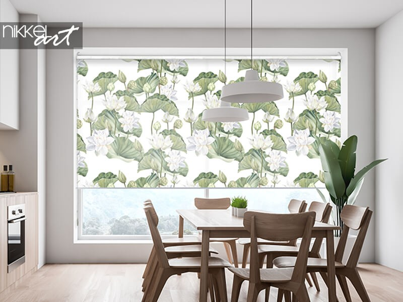 Printed roller blinds for a cozy atmosphere