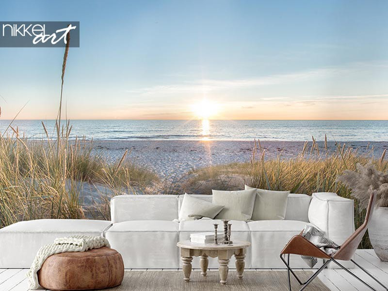 The ultimate holiday feeling: beach photo wall murals