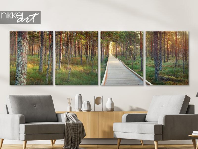 Sizeable eye-catcher: canvas panorama