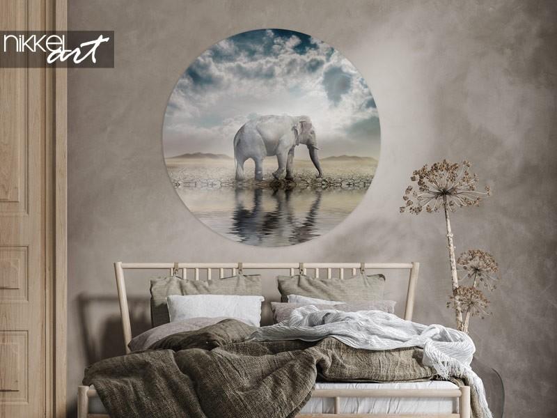 8 x elephants as wall decoration