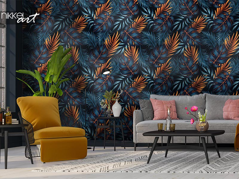 Living room wall murals: inspiration and ideas