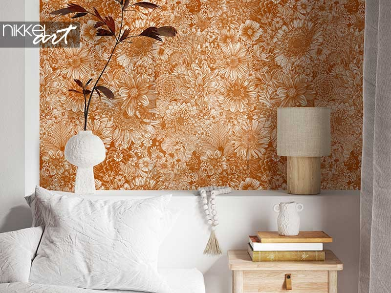 Floral wallpaper old-fashioned? not really!