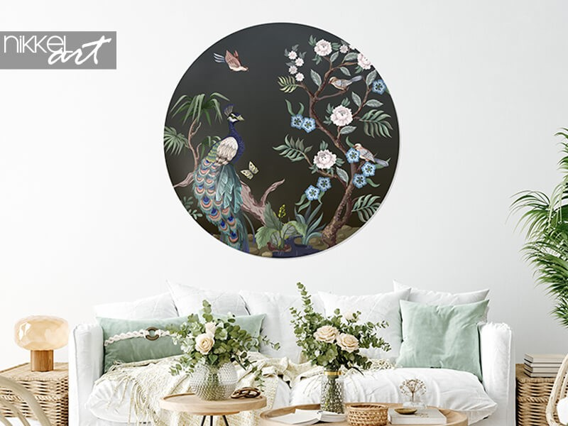 Trend featured: self-adhesive circle wall murals