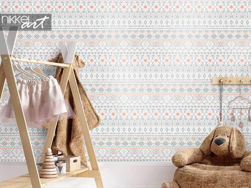 Ethnic wallpapers for a cozy atmosphere