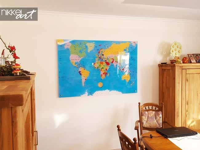 Photo on Acrylic World Map