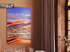 Desert landscape on aluminum