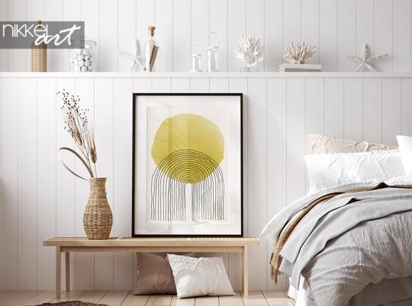 Framed poster with artistic design