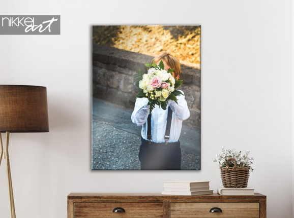 Canvas with communion photo