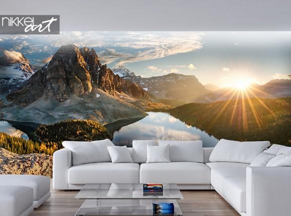 Photo wallpaper mountain landscape