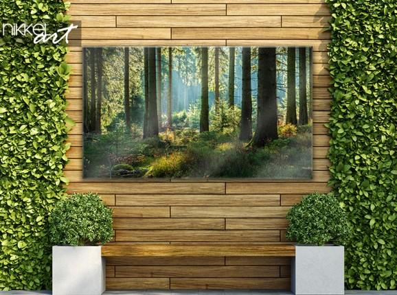 Woodland garden poster