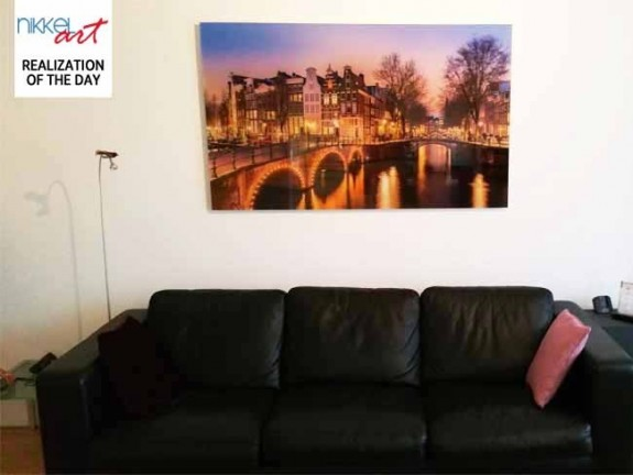Photo on Acrylic Amsterdam canals