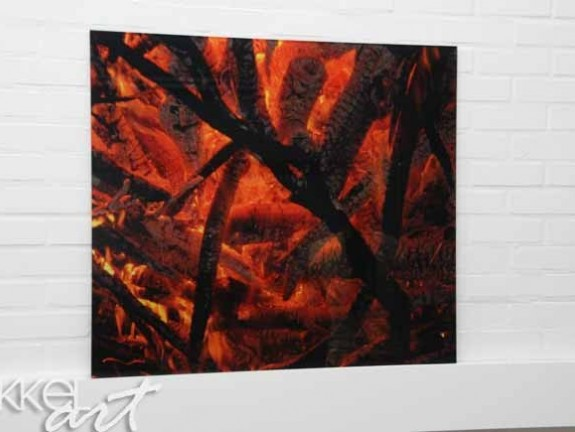 Photo on Acrylic Fire