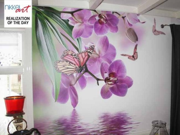 Wall Mural Orchid