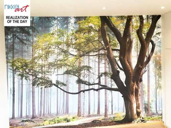 Wall Mural forest for your bedroom