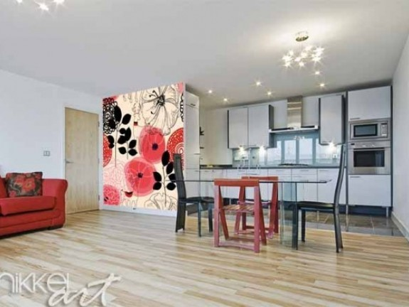 Wall Murals Abstract floral