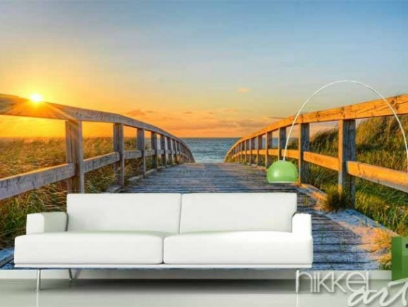 Wall Murals Sea sunset